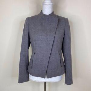 Ann Taylor Moto Inspired Career Blazer Grey